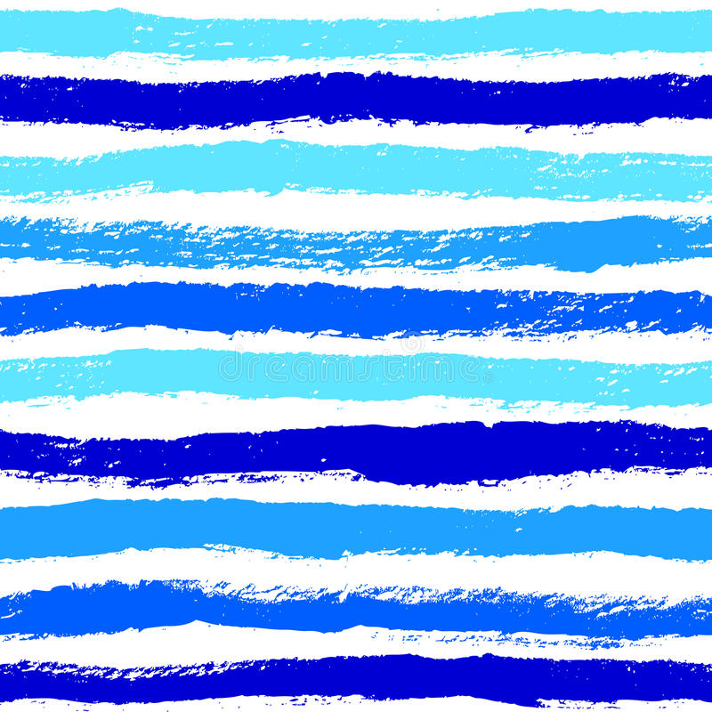 Naadloze patroon van inkt het abstracte stroken Achtergrond met artistiek s vector illustratie
