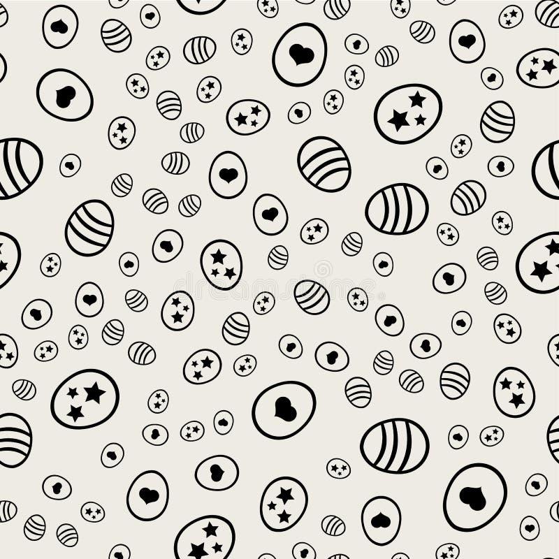 Naadloze patroonachtergrond Abstract en Klassiek concept Geometrisch creatief ontwerp modieus thema illustratievector zwart royalty-vrije illustratie