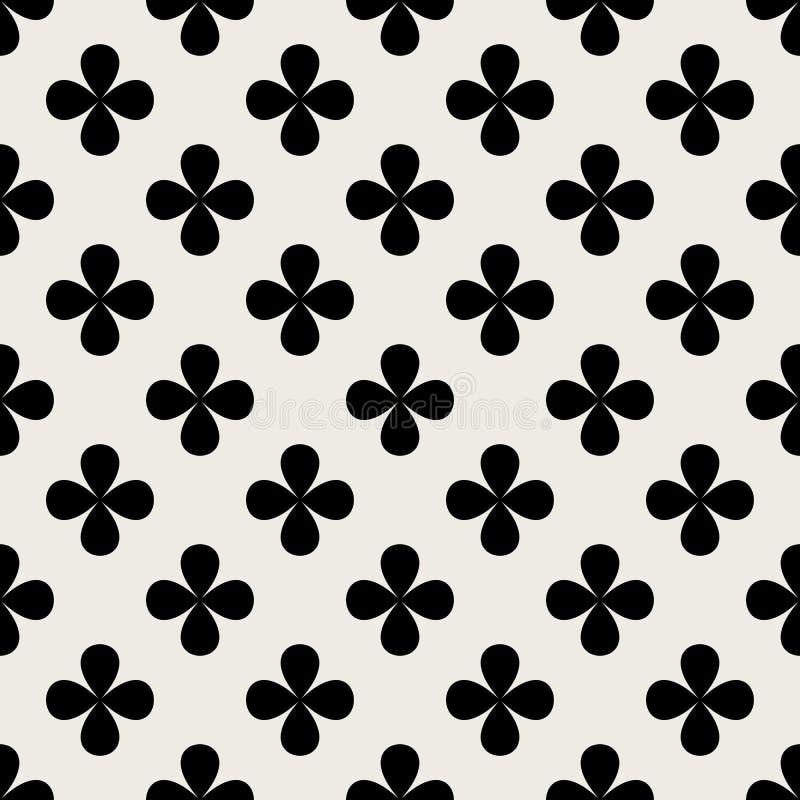 Naadloze patroonachtergrond Abstract en Klassiek concept Geometrisch creatief ontwerp modieus thema illustratievector zwart stock illustratie