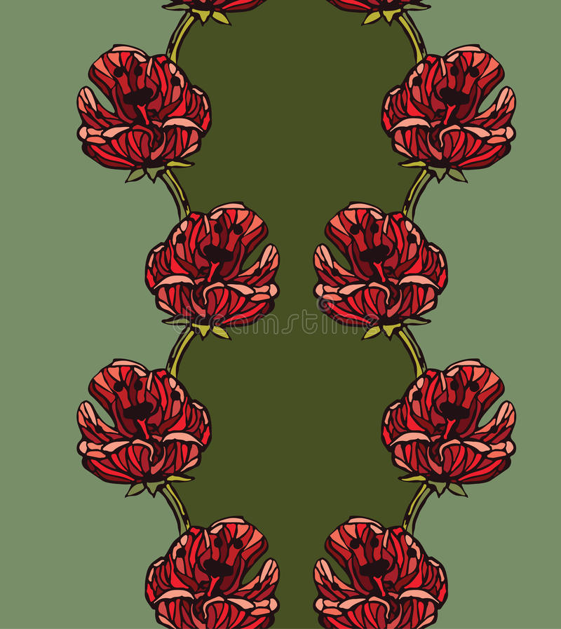 Naadloze patroonachtergrond met tulpen vector illustratie