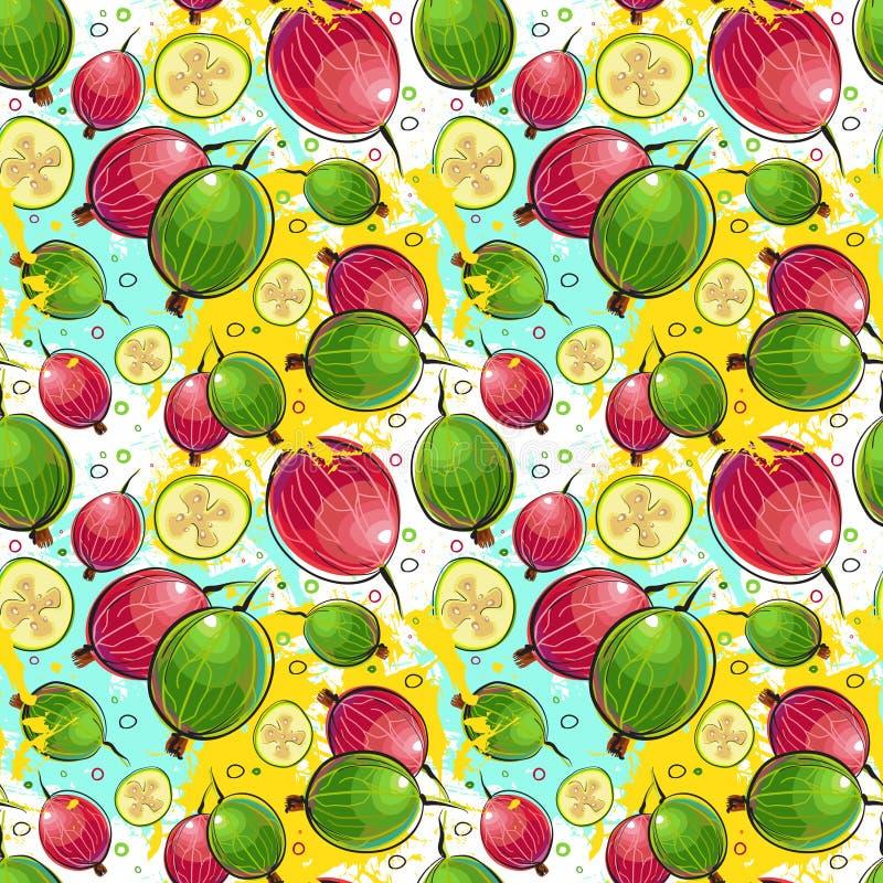 Naadloze Patroonkumquat Vruchten Exotische Ornamentachtergrond vector illustratie