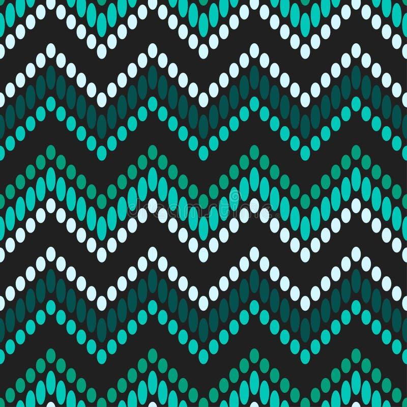 In naadloze patroonontwerpen De zigzag van punten Vector geometrische achtergrond vector illustratie