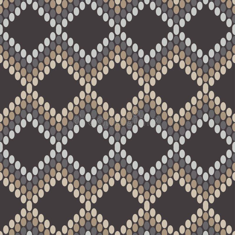 In naadloze patroonontwerpen De zigzag van punten Vector geometrische achtergrond royalty-vrije illustratie