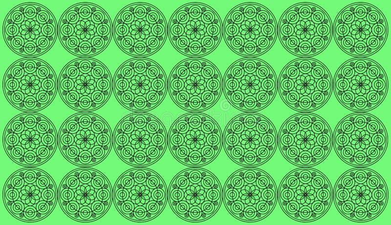 Naadloze patroontegel met ronde bloemenmandalas Islam, Yoga, Arabisch, Indiër, ottomanemotieven Perfectioneer voor druk op stof o royalty-vrije illustratie