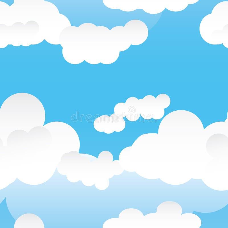 Naadloze pattern_eps van de wolk vector illustratie