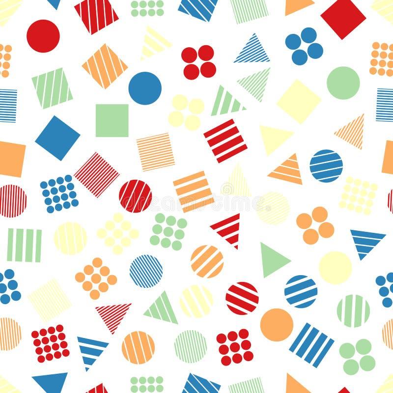 Naadloze primitieve geometrische patronen voor weefsel en prentbriefkaaren vector illustratie
