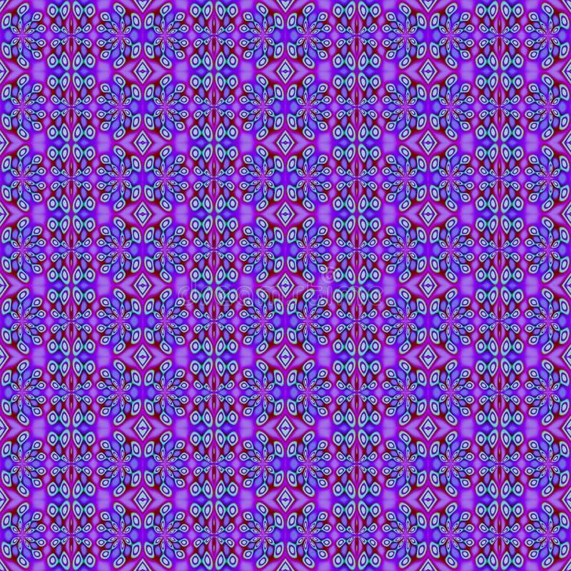 Naadloze regelmatige bloemenpatroon purpere violette groen vector illustratie