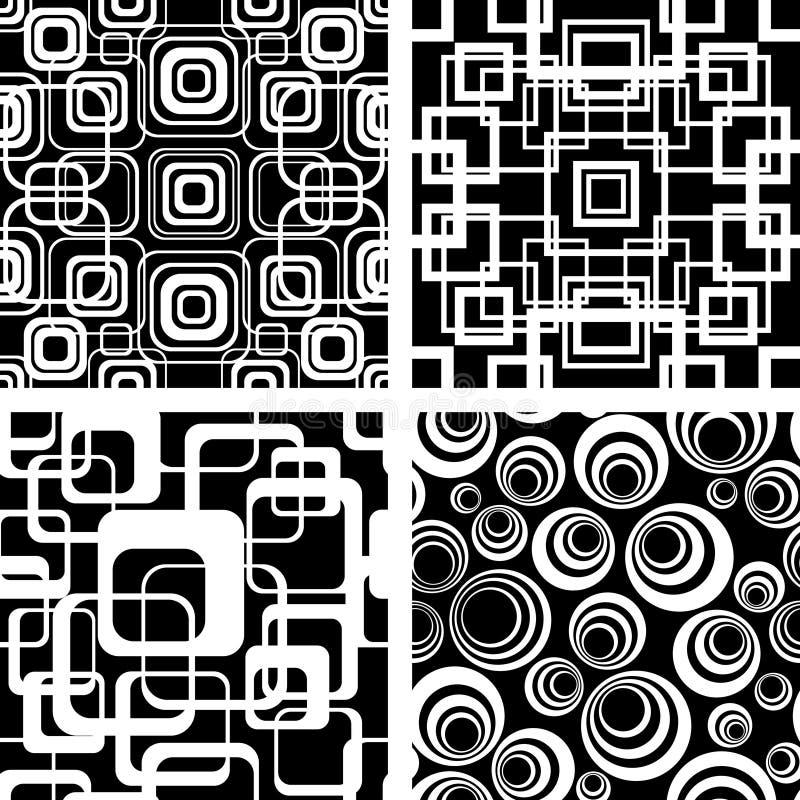 Naadloze retro ornamenten vector illustratie