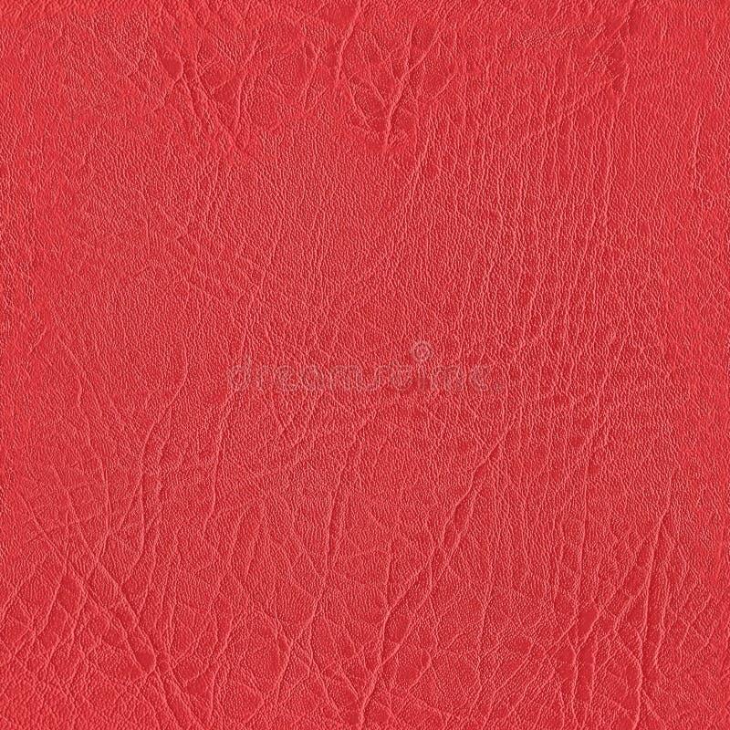 Naadloze rode leertextuur voor muurschilderingbehang royalty-vrije stock fotografie
