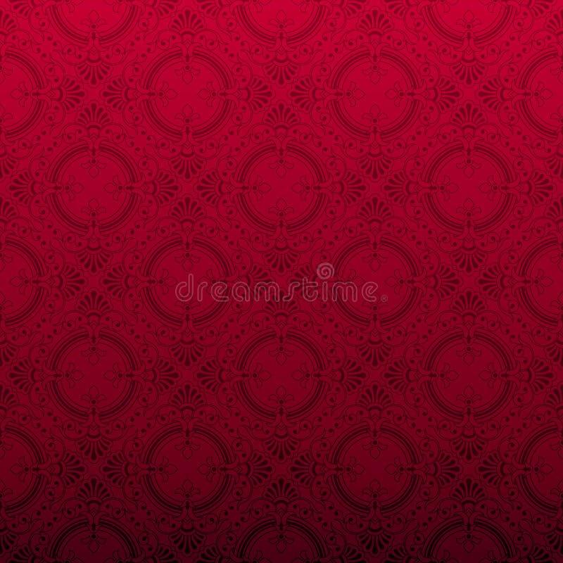 Naadloze rode sierachtergrond vector illustratie