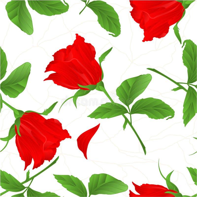 Naadloze rood textuurrosebud nam uitstekende vector toe stock illustratie