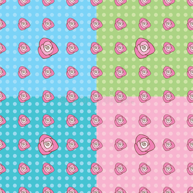 Naadloze Rose Pattern stock foto