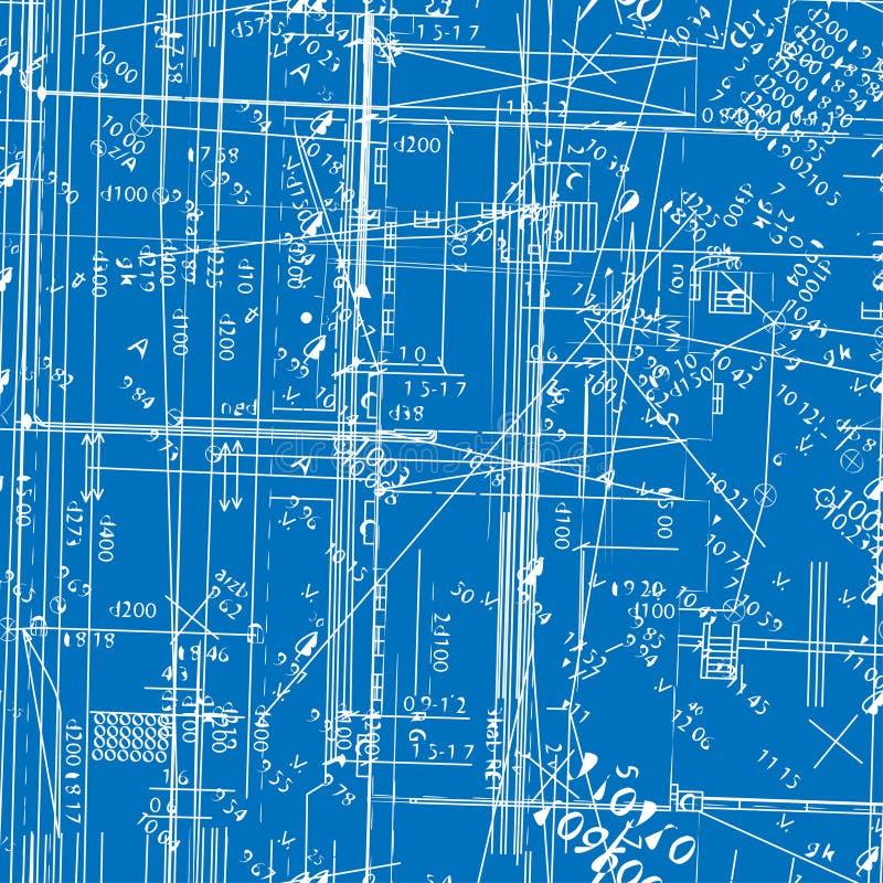 Naadloze simulerende techniekblauwdruk vector illustratie