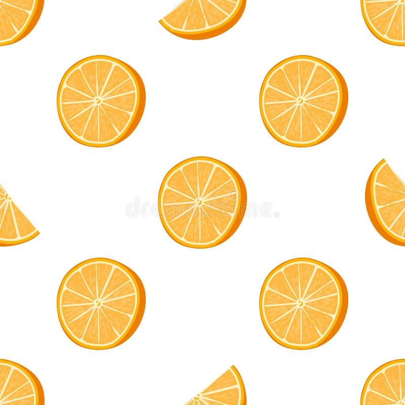 Naadloze sinaasappel gestippelde patroon Handdrawn vectorillustratie stock illustratie