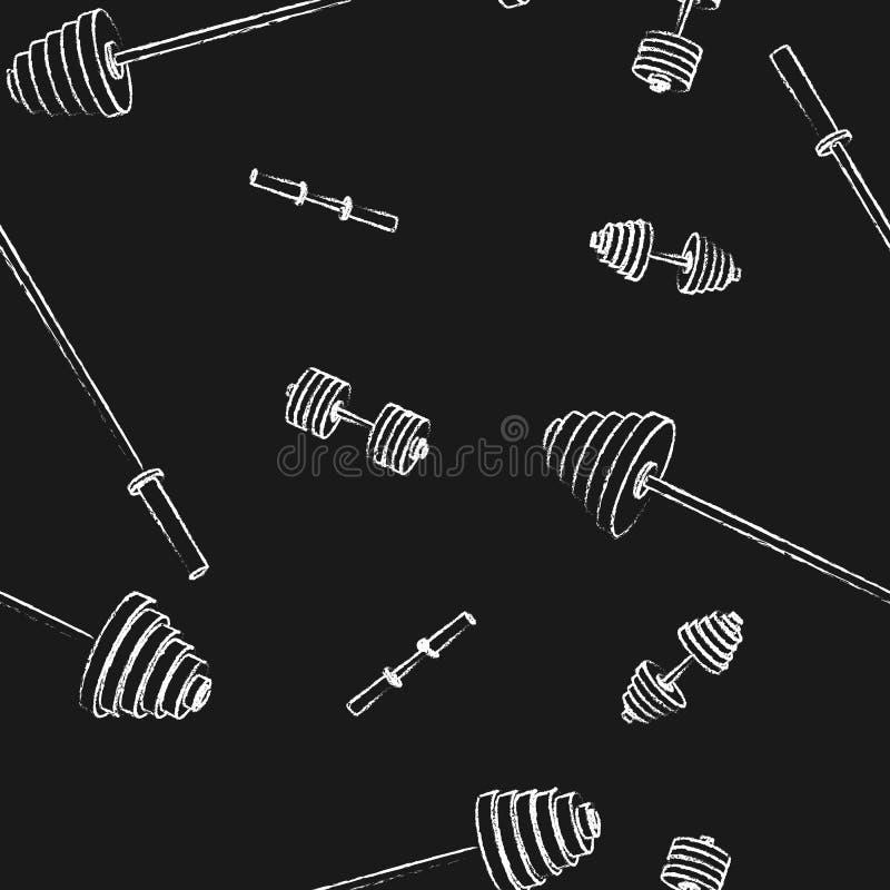 Naadloze sportenachtergrond, vectorillustratie royalty-vrije illustratie