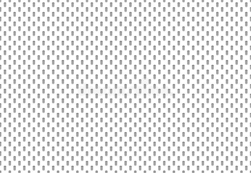 Naadloze sporttextiel De doek van het polyesternetwerk, atletisch materieel net en sporten die vectorpatroon kleden royalty-vrije illustratie