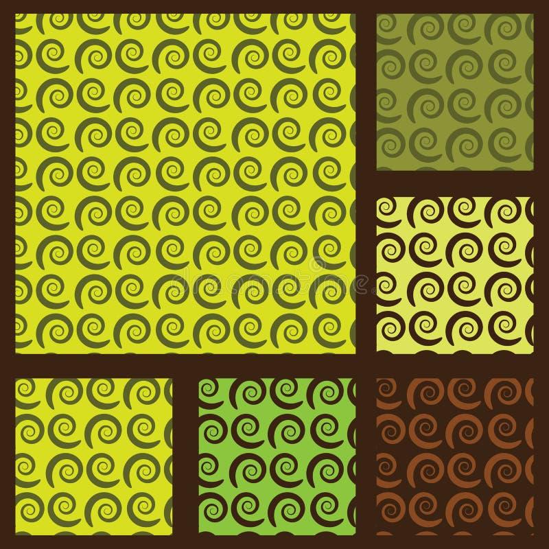 Naadloze Swirly-Patroonachtergronden royalty-vrije illustratie