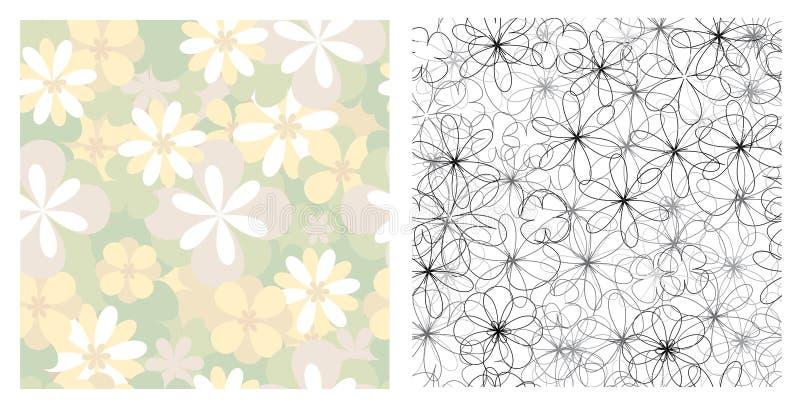 naadloze texturen van bloemen royalty-vrije illustratie