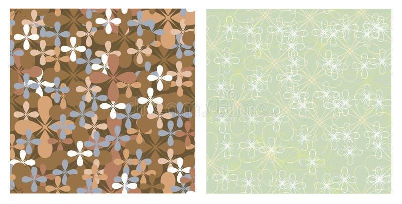 naadloze texturen van bloemen vector illustratie