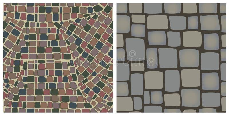 Naadloze texturen van stenen vector illustratie