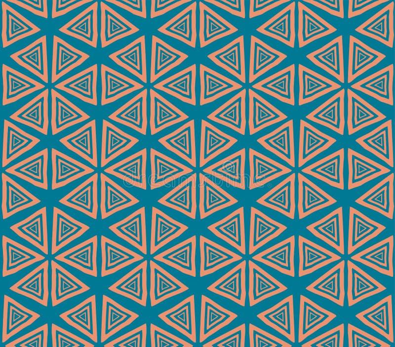 Naadloze textuur in de stijl van hendmeyd stock illustratie