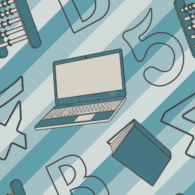 Naadloze textuur met abstract patroon op onderwijs of zaken vector illustratie