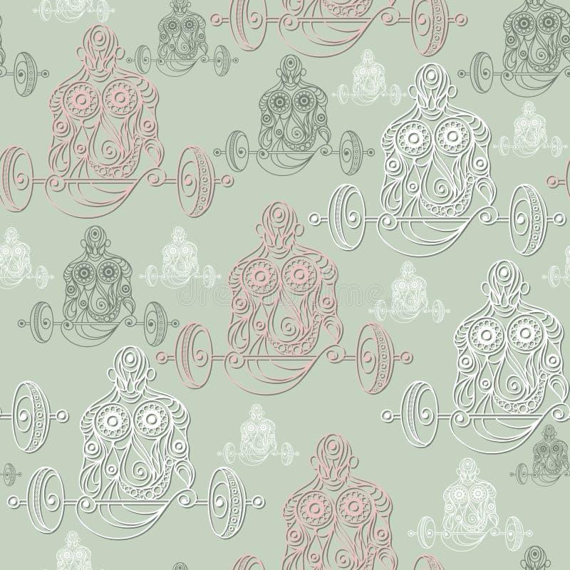 Naadloze textuur met abstracte mens 13 royalty-vrije illustratie