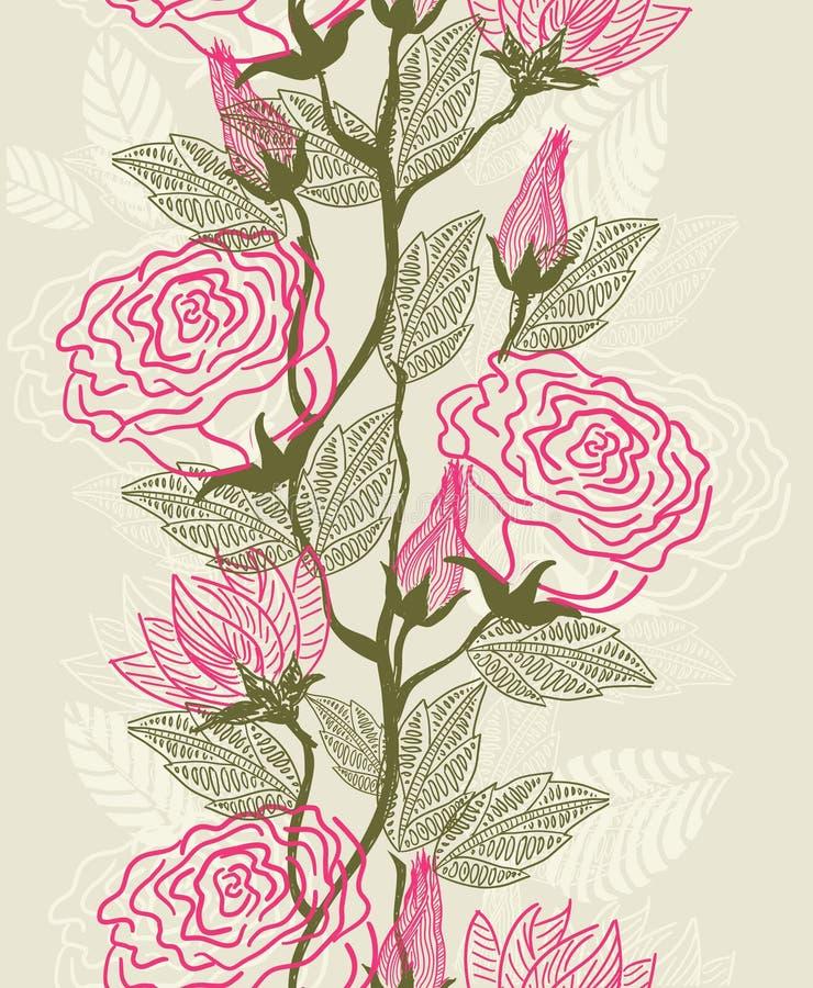 Naadloze textuur met bloemen stock illustratie