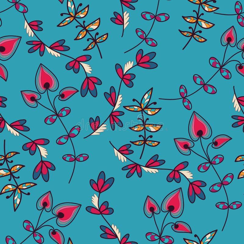 Download Naadloze Textuur Met Bloemen Vector Illustratie - Illustratie bestaande uit schoonheid, modern: 39105631