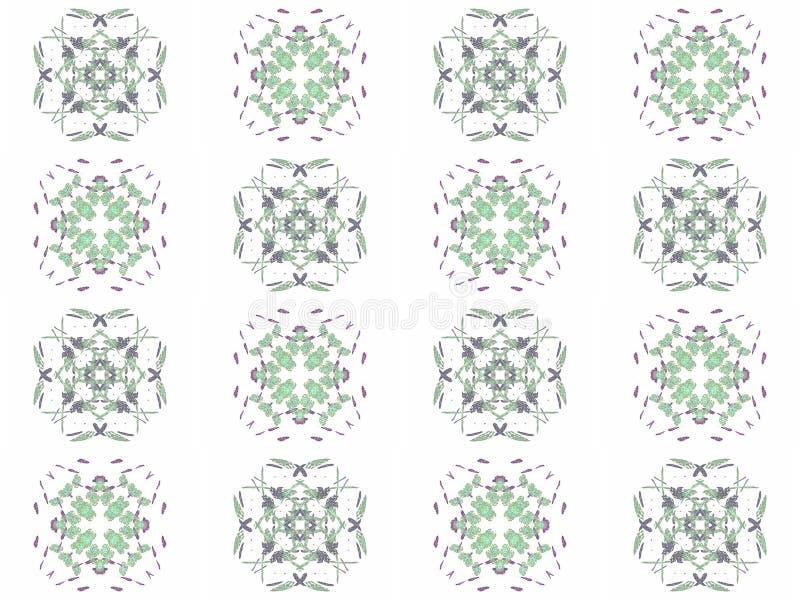 Naadloze textuur met 3D teruggevende abstracte fractal groen patroon stock illustratie