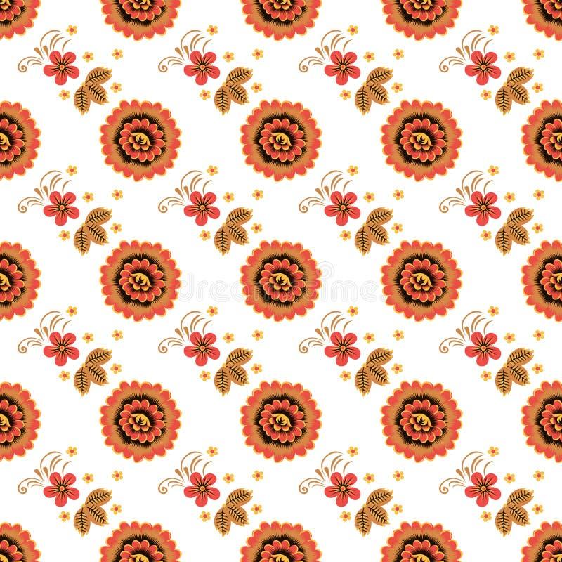 Naadloze textuur met Khokhloma-het schilderen Eps 10 royalty-vrije stock foto