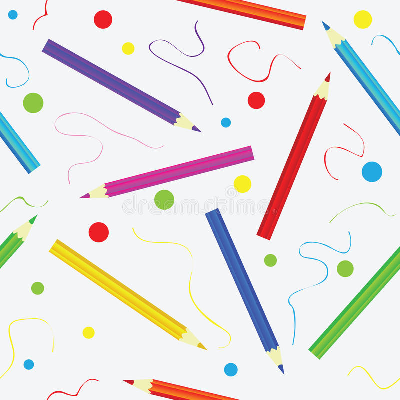 Naadloze textuur met potloden Malplaatje voor ontwerp vector illustratie