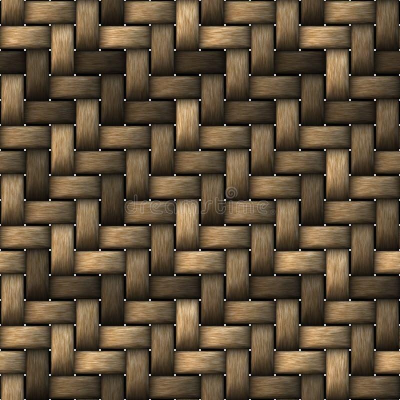 Naadloze Textuur StrawMat stock foto