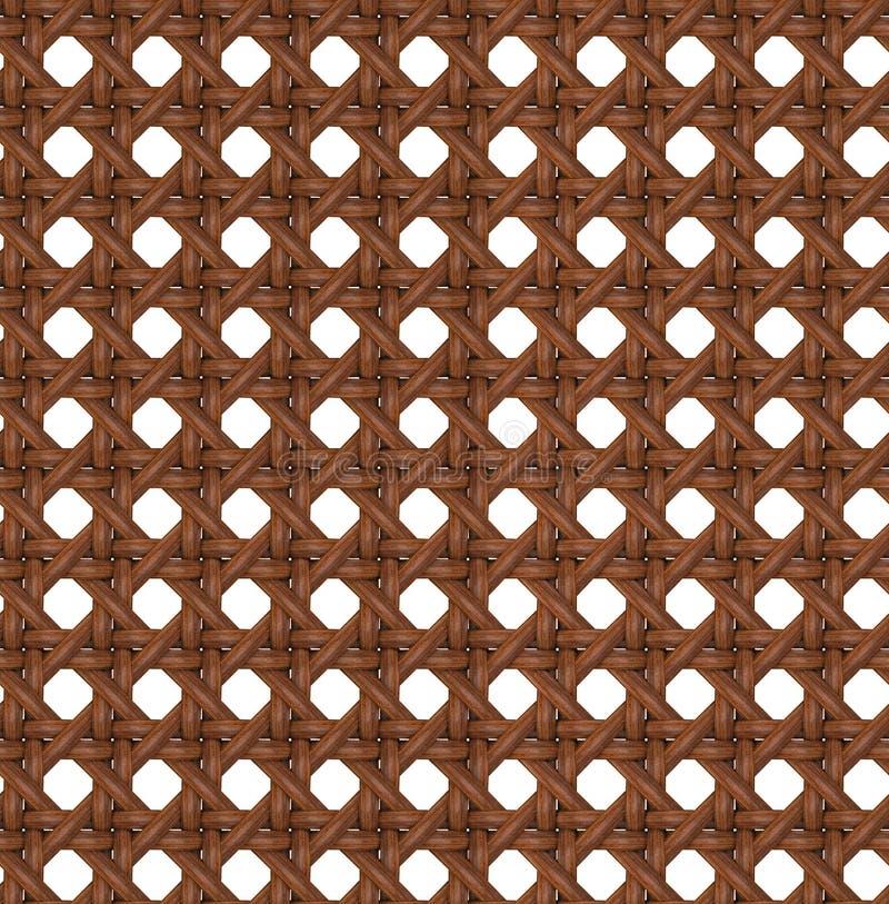 Naadloze Textuur van Houten Bruine Rotan. stock illustratie