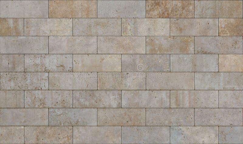 Naadloze textuur van beige die tegels van zandsteen als achtergrond of achtergrond wordt gemaakt royalty-vrije stock afbeeldingen