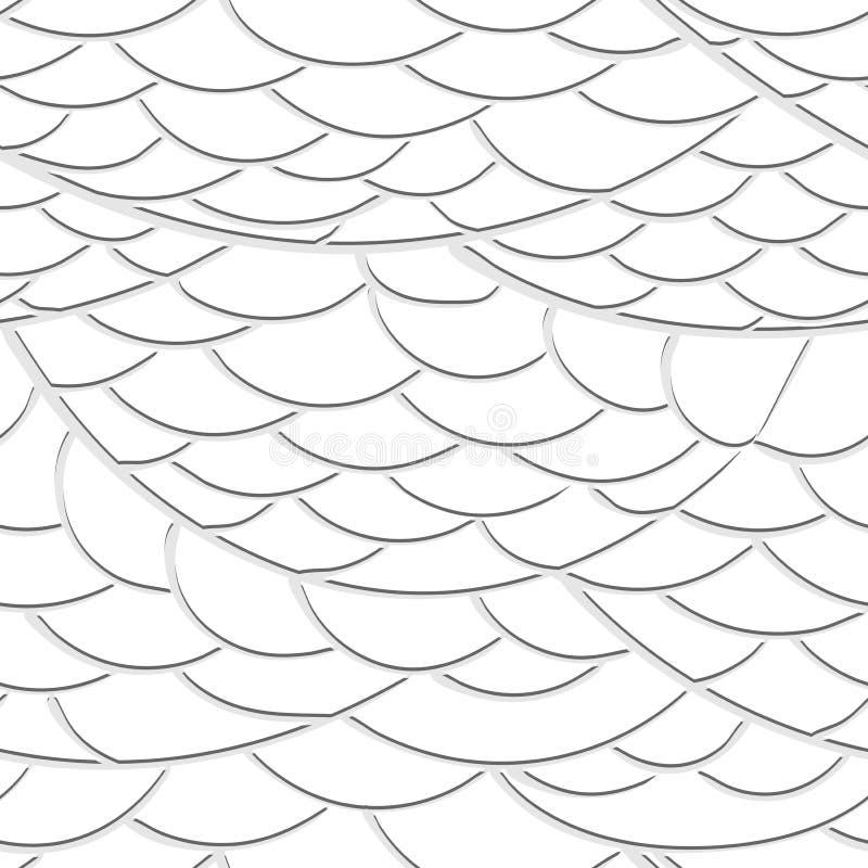 Naadloze textuur van de golven uit document vector illustratie