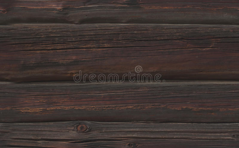 Naadloze textuur van donkere roetige Houten logboeken stock foto