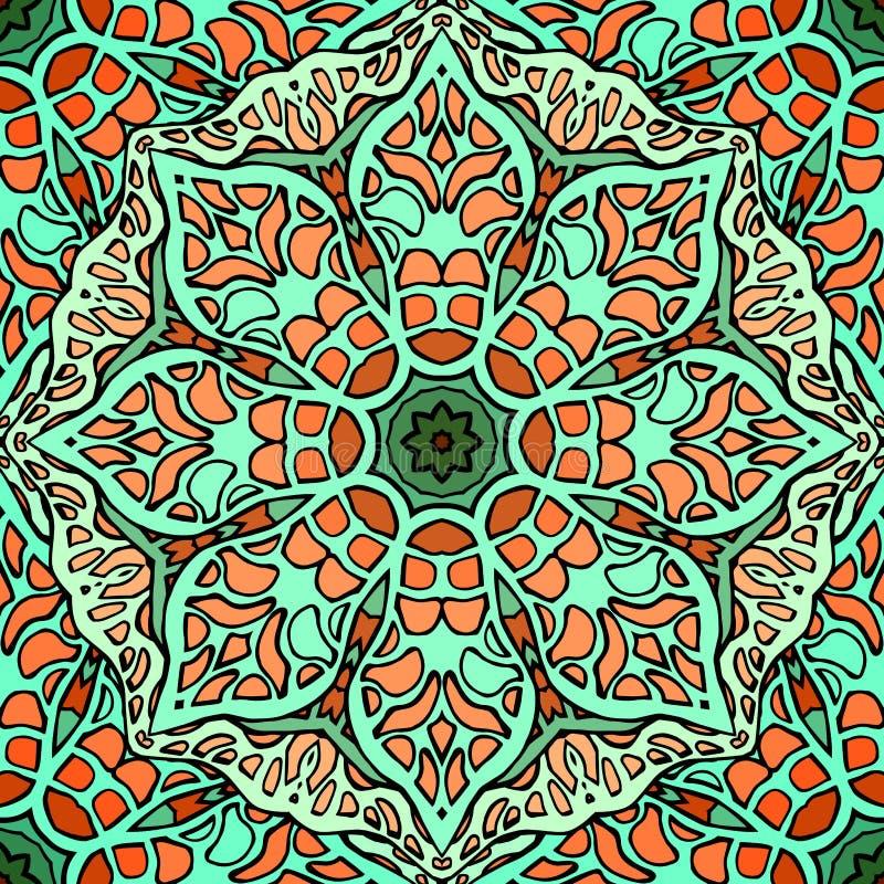 Naadloze textuur van gebrandschilderd glas Vector naadloze achtergrond royalty-vrije illustratie
