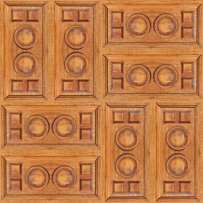 Naadloze textuur van houten panelen met barsten voor aristocratie binnenlands ontwerp royalty-vrije stock fotografie