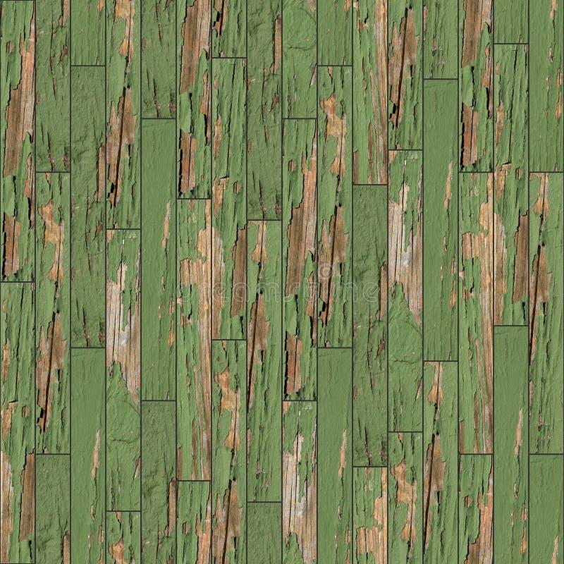 Naadloze textuur van houten parket Groen stock fotografie