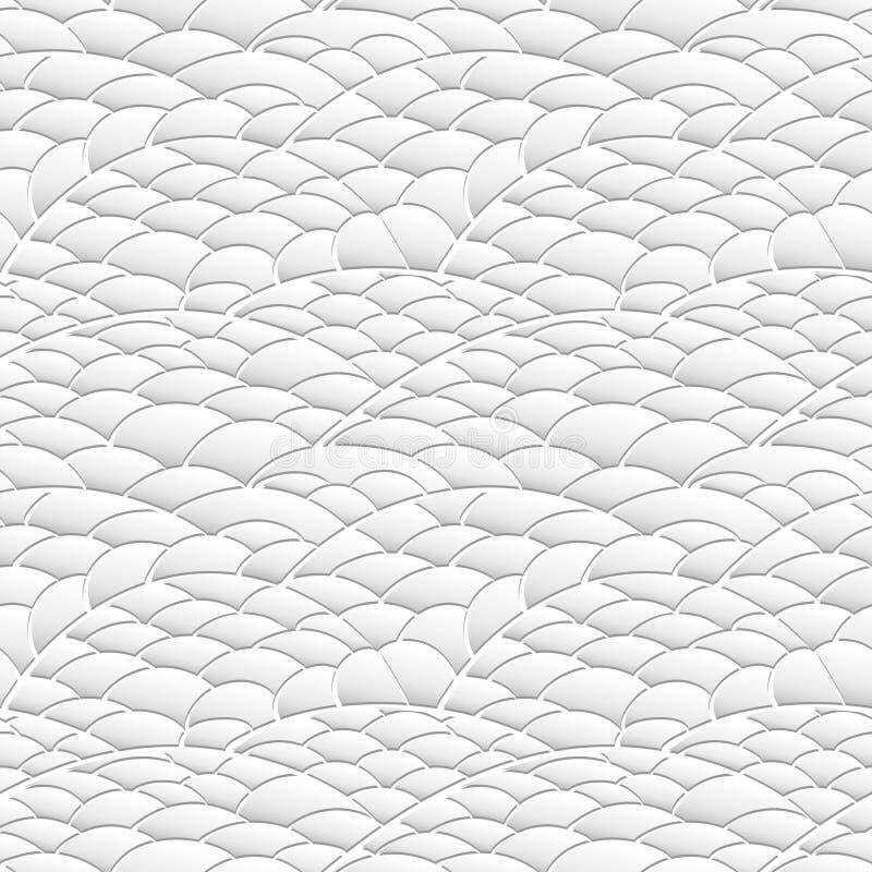 Naadloze textuur van natuurlijke die heuvels van document wordt gemaakt royalty-vrije illustratie