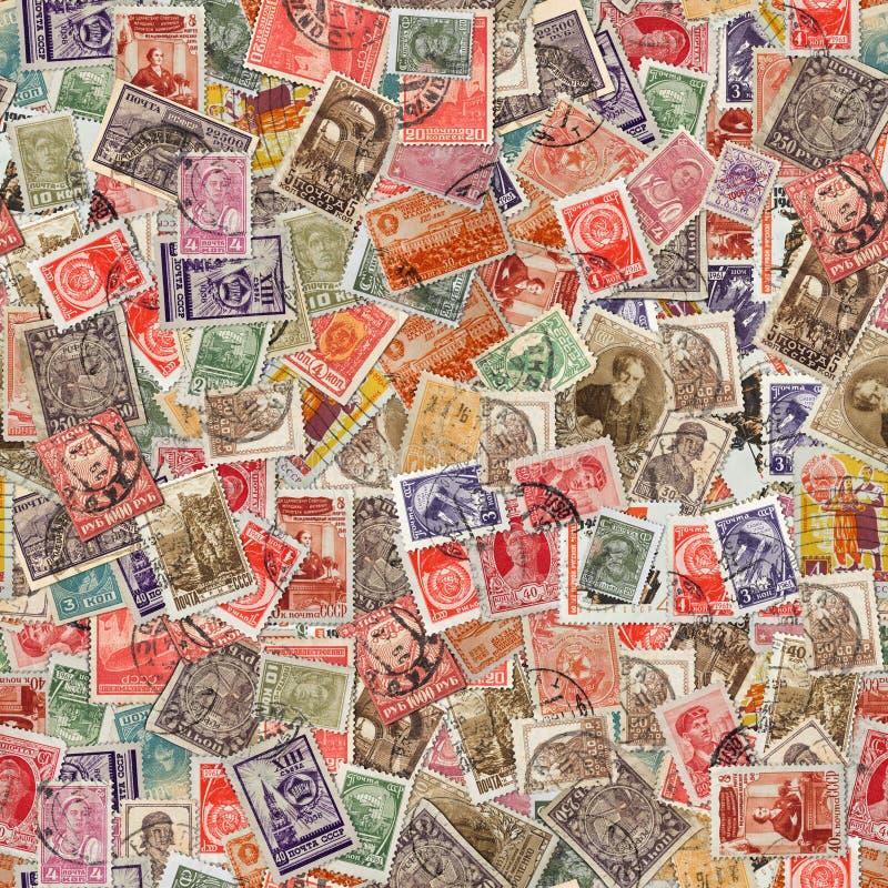 Naadloze Textuur van Postzegels. stock foto's