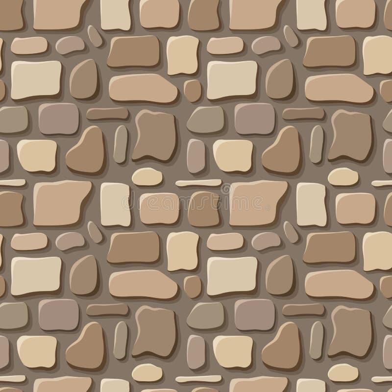 Naadloze textuur van steenmuur.