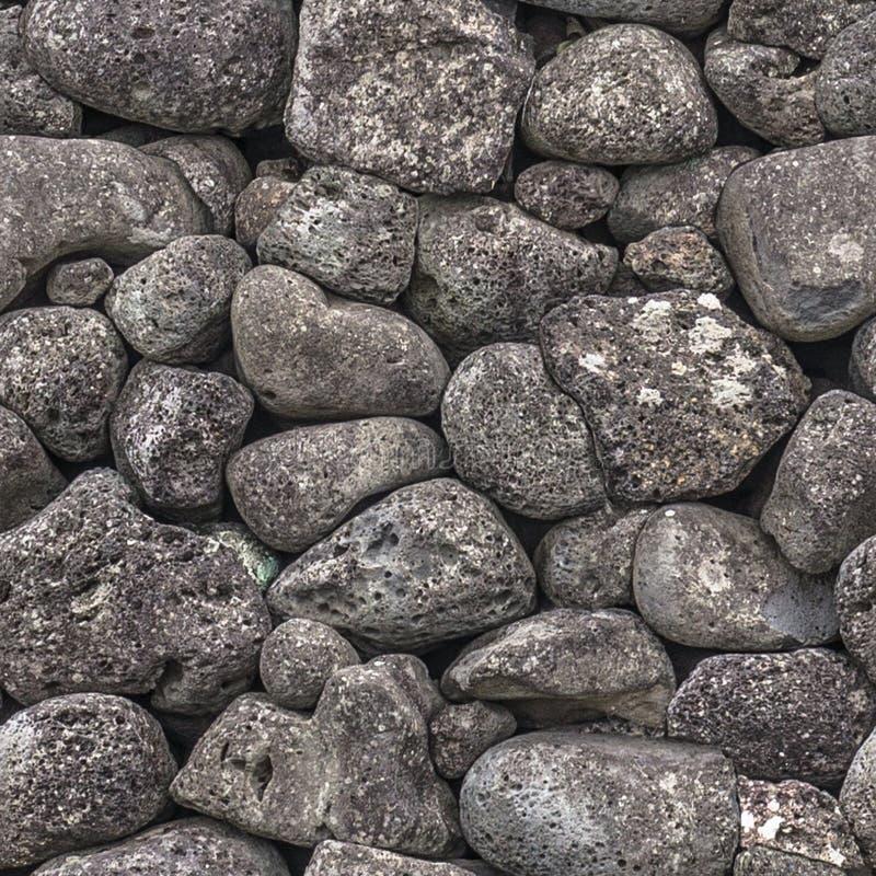 Naadloze textuur van stenen van verschillende grootte royalty-vrije stock foto
