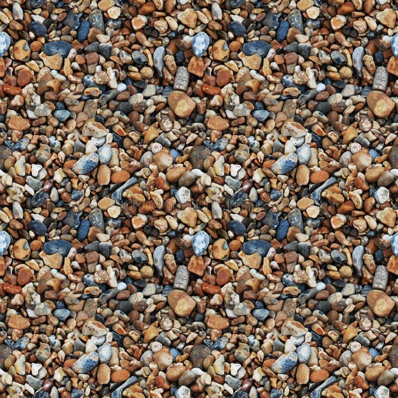Naadloze textuur van stenen van verschillende grootte royalty-vrije stock afbeelding