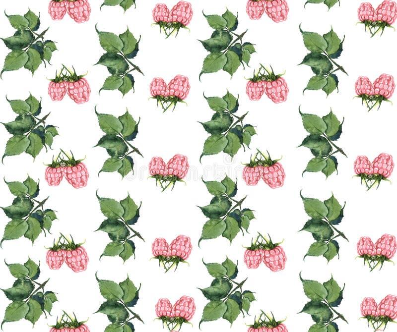 Naadloze textuur van waterverf Bessen Rode stroom royalty-vrije stock afbeeldingen