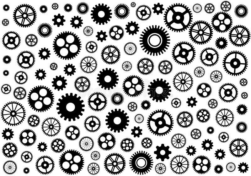 Naadloze textuur of verschillende toestelwielen Vector illustratie vector illustratie