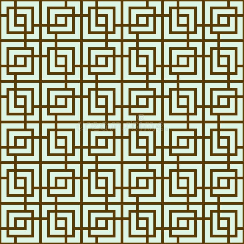 Naadloze traditionele Aziatische sier beweging veroorzakend, Japans, Chinees of Koreaans en meer Geometrisch patroon met het herh stock illustratie
