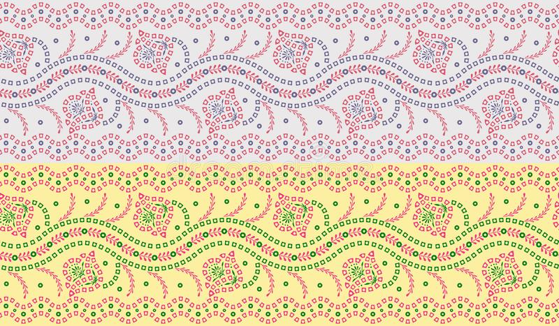 Naadloze traditionele bandanagrens stock illustratie