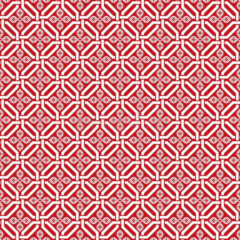 Naadloze traditionele Japanse uitstekende patroonachtergrond stock illustratie